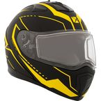 Matte Black/Yellow Tranz 1.5 RSV Vision Modular Snow Helmet w/Electric Shield - 508717#