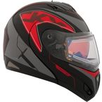 Red Tranz RSV Eagle Modular Snow Helmet w/Electric Shield - 508854#