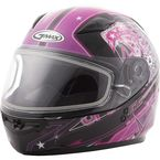 Youth Pink/Purple/Black GM49Y Celestial Snowmobile Helmet w/Dual Lens Shield - G2498402 TC-14