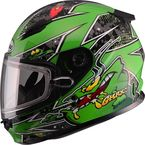 Youth Green GM49Y Alien Snowmobile Helmet w/Dual Lens Shield - G2497222 TC-3