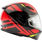 Black/Red FF49 Berg Snowmobile Helmet w/Dual Lens Shield - G2493206 TC-1