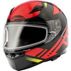 Black/Red FF49 Berg Snowmobile Helmet w/Electric Shield - G2493206 TC1 ELEC