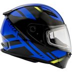 Black/Blue FF49 Berg Snowmobile Helmet w/Dual Lens Shield - G2493216 TC-2