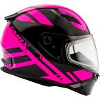 Black/Pink FF49 Berg Snowmobile Helmet w/Dual Lens Shield  - G2493406 TC-14