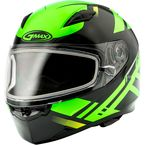 Black/Hi-Vis Green FF49 Berg Snowmobile Helmet w/Electric Shield - G2492676 TC23 ELEC