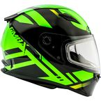 Black/Hi-Vis Green FF49 Berg Snowmobile Helmet w/Dual Lens Shield - G2493676 TC-23