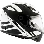 Flat Black/White FF49 Berg Snowmobile Helmet w/Dual Lens Shield - G2493437 F.TC-15