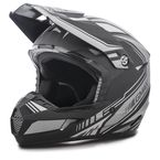 Flat Black/Black/Silver  MX46 Uncle Helmet - G3467456 TC-17F