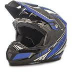 Youth Black/Blue MX46 Uncle Helmet - G3467212 TC-2