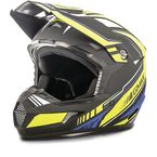 Flat Black/Hi-Vis/Blue MX46 Uncle Helmet - G3467685N TC-24