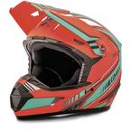 Youth Flat Orange/Teal MX46 Uncle Helmet - G3467732 TC-27
