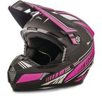 Youth Flat Black/Pink MX46 Uncle Helmet - G3467402 TC-14