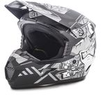 Youth Flat Black/Dark Silver MX46 Hooper Helmet - G3468452 TC-17F