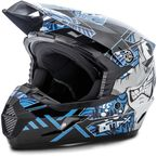 Youth Black/Blue MX46 Hooper Helmet - G3468212 TC-2