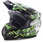 Youth Black/Green MX46 Hooper Helmet - G3468222 TC-3