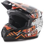 Youth Black/Orange MX46 Hooper Helmet - G3468252 TC-6