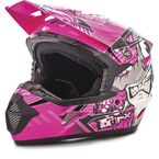 Youth Black/Pink/Purple MX46 Hooper Helmet - G3468401 TC-14