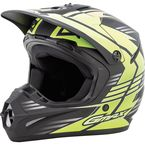 Youth Flat Black/Hi-Vis Green GM46.2 Race Helmet - G3466672 TC-23F