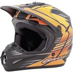 Youth Flat Black/Hi-Vis Orange GM46.2 Race Helmet - G3466692 TC-26F