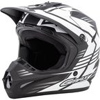 Flat Black/White GM46.2 Race Helmet - G3466438 TC-15F