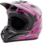 Youth Black/Hi-Vis Pink GM46.2 Race Helmet - G3466400 TC-14
