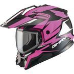 Black/Hi-Vis Pink GM11S Vertical Snowmobile Helmet w/Dual Lens Shield  - G2111405 TC-14