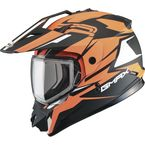 Flat Black/Hi-Vis Orange GM11S Vertical Snowmobile Helmet w/Dual Lens Shield  - G2111696 F.TC-26