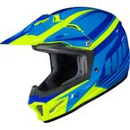 Youth Blue/Hi-Viz Green CL-XY II Bator MC-3H Helmet - 294-933
