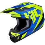 Semi-Flat Blue/Green CS-MX II Dakota MC-2SF Helmet - 328-724
