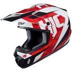 Red/White/Black CS-MX II Dakota MC-1 Helmet - 328-914
