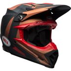 Matte Copper/Black Vice Moto-9 Flex Helmet - 7091648