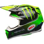 Black/Green/White Moto-9 MIPS Tomac Replica 17.2 Helmet - 7091792