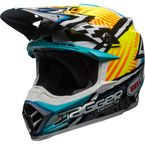 Yellow/Blue/White Moto-9 MIPS Tagger Asymmetric Helmet - 7091852