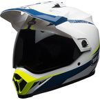 White/Blue/Yellow MX-9 Adventure MIPS Torch Helmet - 7092735