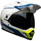 White/Blue/Yellow MX-9 MIPS Torch Helmet - 7091744