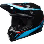 Black/Cyan/Red MX-9 MIPS Torch Helmet - 7091696