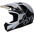 Childs White/Black Rise Helmet - 0101-10760