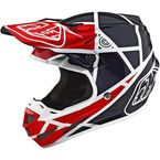 Red/Navy Metric SE4 Composite Helmet - 101109103
