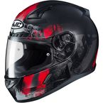 Semi-Flat Black/Red CL-17 Arica MC-1SF Helmet - 856-714