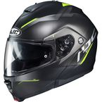 Semi-Flat Black/Hi-Vis IS-MAX2 Dova MC-3HSF Modular Helmet - 994-734