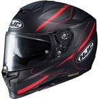 Semi-Flat Black/Gray/Red RPHA-70 ST Dipol MC-1SF Helmet - 1692-714