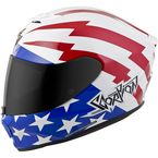 White/Red/Blue EXO-R420 Tracker Helmet - 42-1125