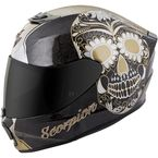 Black/Gold EXO-R420 Sugarskull Helmet - 42-1225