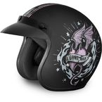 Black/Pink Gone Bad 3/4 Cruiser Helmet - DC6-GB-L