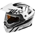 Matte White EXO-CX950 Slash Snow Helmet w/Electric Shield - 45-29209