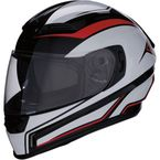 Red/Black/White Jackal Aggressor Helmet - 0101-10947