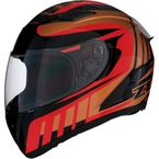 Red/Bronze Strike Ops Attack Helmet - 0101-11035