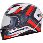 Pearl White/Red FX-99 Helmet - 0101-11128