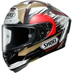 Black/Gold/White X-Fourteen Marquez Motegi 2 TC-1 Helmet - 0104-1801-06