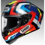 Red/Blue/White X-Fourteen Brink TC-1 Helmet - 0104-1901-06